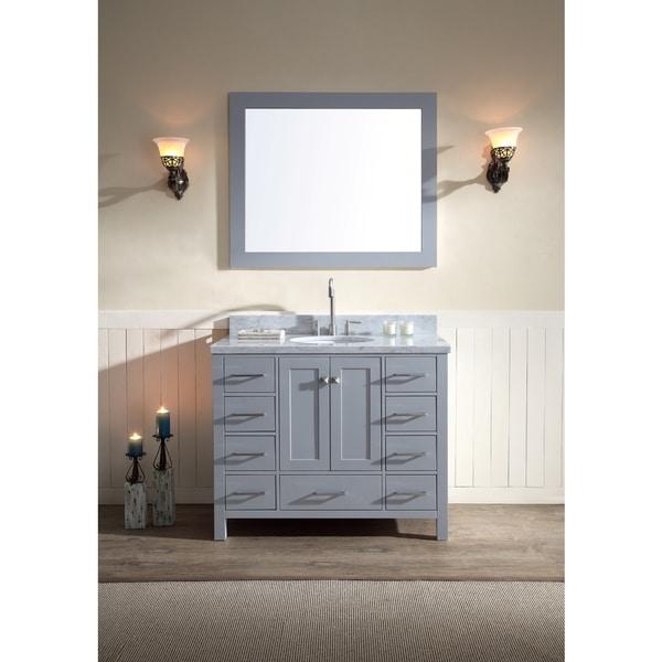 Shop ARIEL Cambridge 43-inch Single Sink Grey Vanity Set