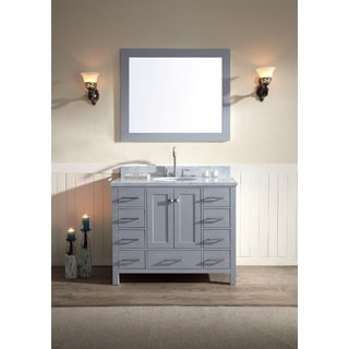 ARIEL Cambridge 43-inch Single Sink Grey Vanity Set