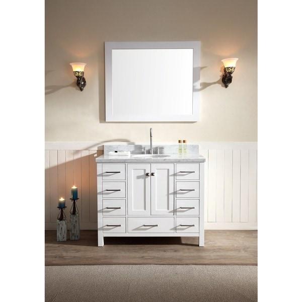 ARIEL Cambridge 43-inch Single-sink White Vanity Set
