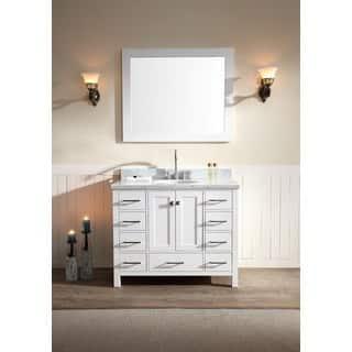 one sink vanity cabinets. ARIEL Cambridge 43 inch Single sink White Vanity Set Size Vanities Bathroom  Cabinets For Less