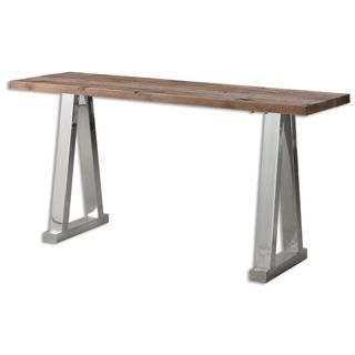 Hesperos Wooden Console Table - Silver
