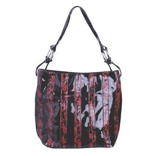 J. Furmani Shiny Leopard Stripe Handbag