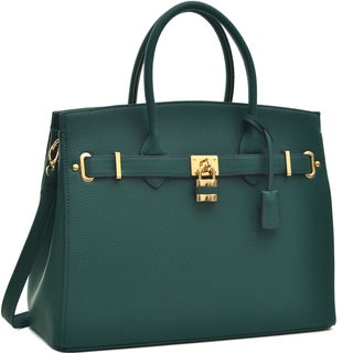 Link to Dasein Faux Leather Work Satchel with Padlock Similar Items in Shop By Style