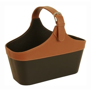Wald Imports Tote with Handle - Black and Tan