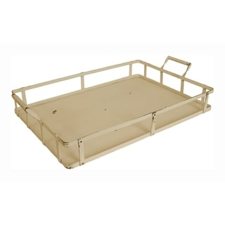 Wald Imports Weathered Metal Tray - White Wash