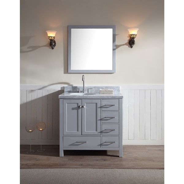 Shop Cambridge 37 Inch Single Sink Vanity Set With Left
