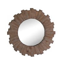 Wooden Sunburst Wall Mirror - Natural