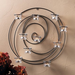 Circular Candle Holder Wall Sconce