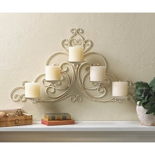 Victorian Scrollwork Candle Wall Sconce