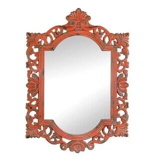 Antique-Style Tangerine Wall Mirror - Orange