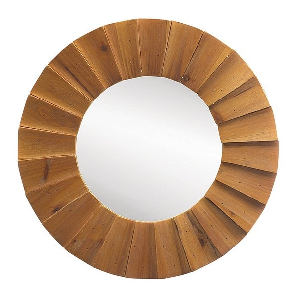Modern Oak Wall Mirror - Natural
