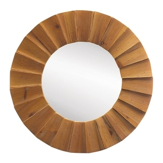 Modern Oak Wall Mirror