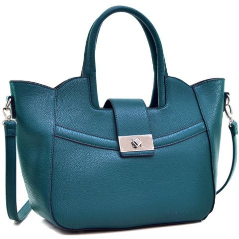 Dasein Fold-Over Winged Satchel with Shoulder Strap
