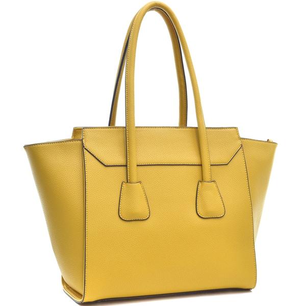 984d02417d Shop Dasein Faux Leather Winged Satchel Women Shoulder Bag - On Sale ...