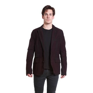 Excelled Men's Classic Tweed Two-Button Blazer