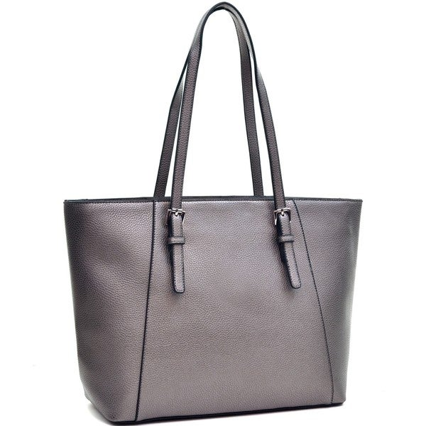704f8e86c4c5 Shop Dasein Faux Leather Buckle Strap Tote Bag - Medium - Free ...