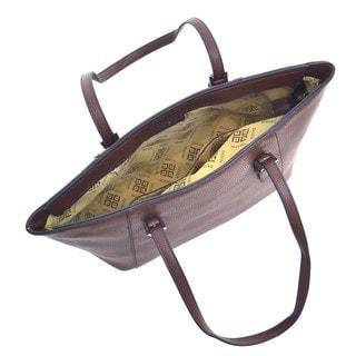Dasein Faux Leather Buckle Strap Tote Bag