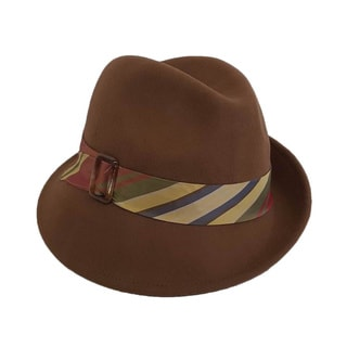 Hatch Women's Multicolor Band Wool Felt Fedora Hat