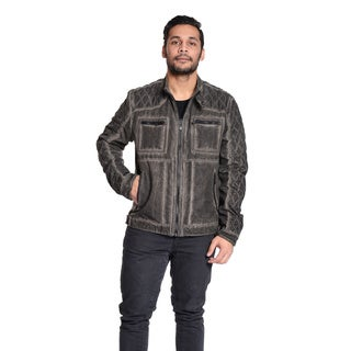 Excelled Men's Quilted Moto Jacket