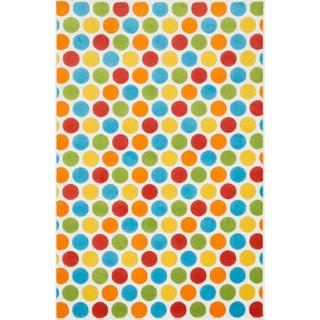 Amelia Ivory/ Multi Dot Rug (2'7 x 3'11)