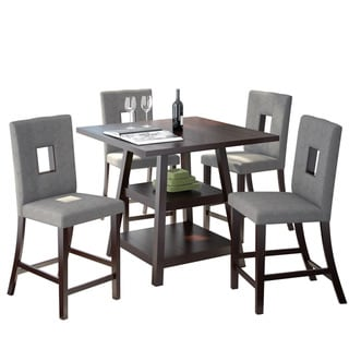 """CorLiving Bistro 5pc 36"""" Counter Height Rich Cappuccino Dining Set"""