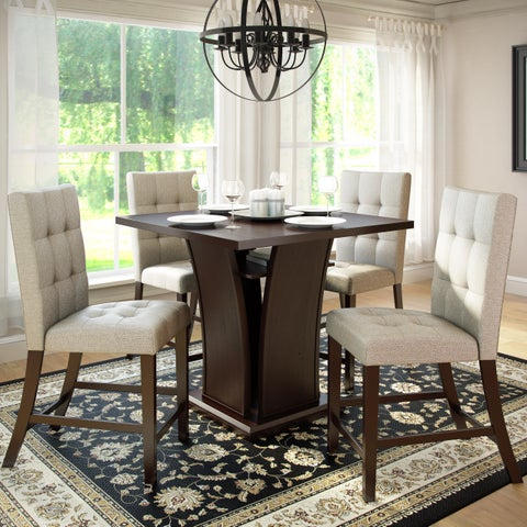 Bistro 36-inch Counter Height Rich Cappuccino 5pc Dining Set