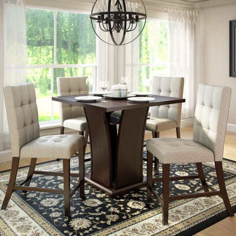 Copper Grove Varazdinske 36-inch Counter-height Cappuccino 5-piece Dining Set