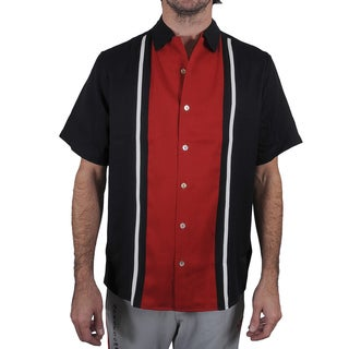 Da Vinci Men's Split Button Down Classic Shirt