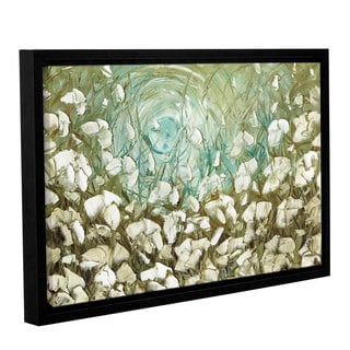 ArtWall Susanna Shaposhnikova's White Poppies 2, Gallery Wrapped Floater-framed Canvas