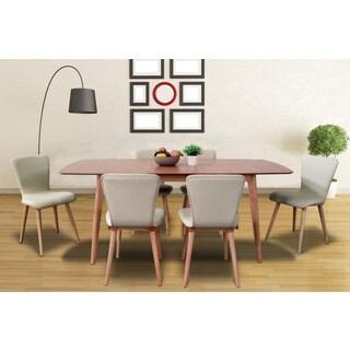 Dalia Mid-century 7-piece Cream Living Room Dining Set