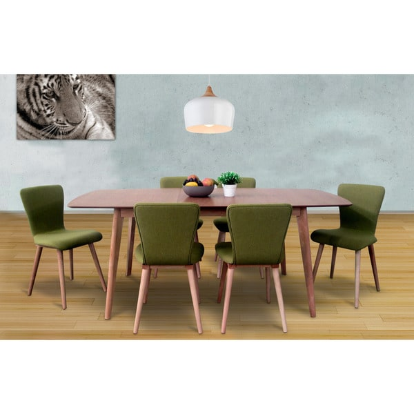 Dalia mid century green 7 piece living room dining set for 7 piece living room set with tv