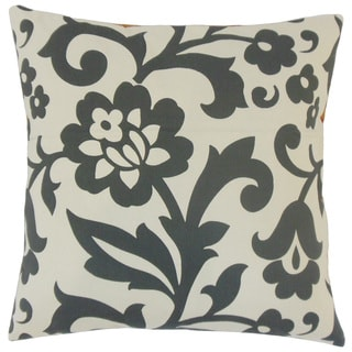 Fisseha Floral Feather and Down Filled 18-inch Throw Pillow