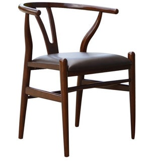 Baxton Studio Wishbone Modern Brown Wood Dining Chair With