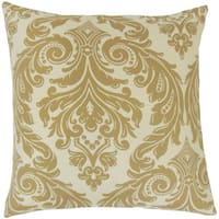 Jovita Damask Feather and Down Filled 18-inch Throw Pillow