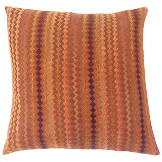Kawena Geometric Feather and Down Filled 18-inch Throw Pillow