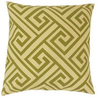 Mairwen Geometric Feather and Down Filled 18-inch Throw Pillow