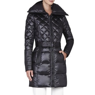 BCBG Maxazria Women's 'Lauren' Black Down Puffer Coat