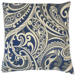 Natashaly Damask Feather and Down Filled 18-inch Throw Pillow
