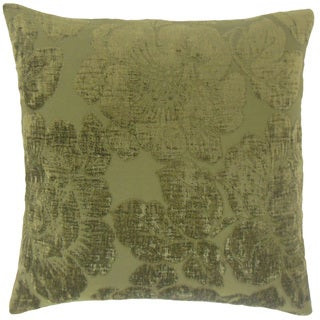 Sarafina Floral Feather and Down Filled 18-inch Throw Pillow
