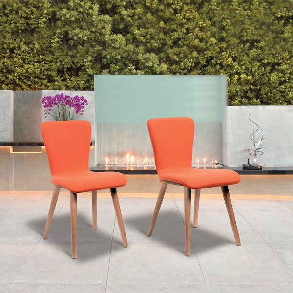 Dalia 2 Piece Tangerine Dining Chair Set