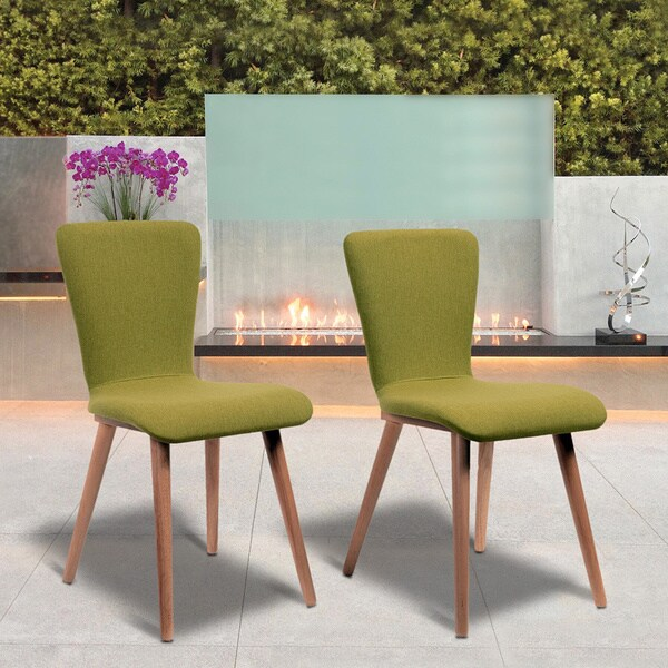 Dalia Green Living Room Dining Chairs Set of 2 Free