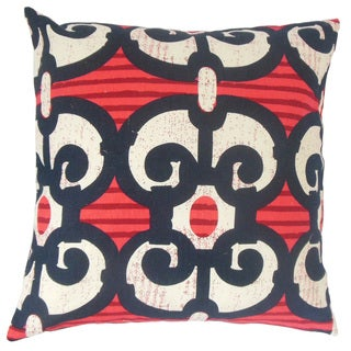 Boyana Graphic Feather and Down Filled 18-inch Throw Pillow