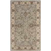 Safavieh Handmade Heritage Timeless Traditional Beige/ Grey Wool Rug - 3' x 5'