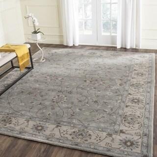 Safavieh Handmade Heritage Timeless Traditional Beige/ Grey Wool Rug (4' x 6')