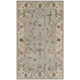Safavieh Handmade Heritage Timeless Traditional Beige/ Grey Wool Rug (3' x 5')