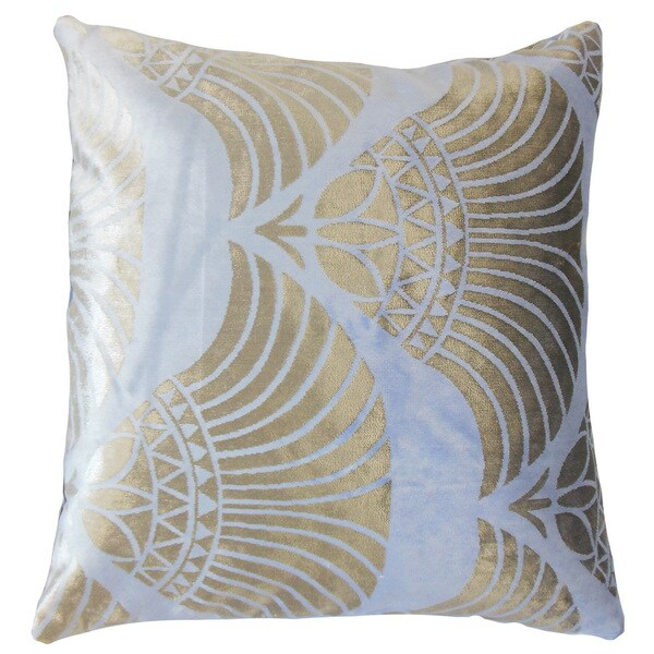 Parvaneh Geometric Feather and Down Filled 18-inch Throw Pillow