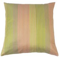 Taregan Stripes Feather and Down Filled 18-inch Throw Pillow