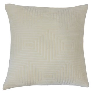 Yavesly Solid Feather and Down Filled 18-inch Throw Pillow