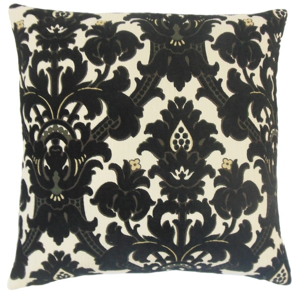 Beonica Damask Feather and Down Filled 18-inch Throw Pillow