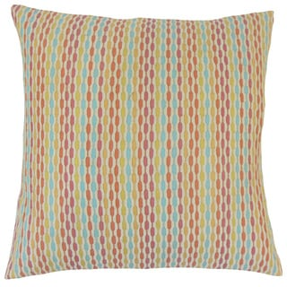 Caroun Stripes Feather and Down Filled 18-inch Throw Pillow